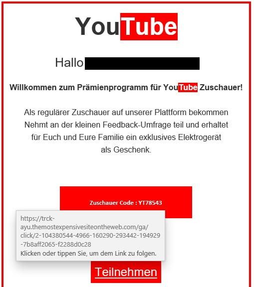 Phishing YouTube