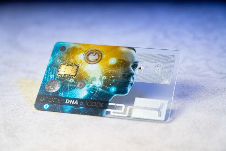 Hybridkarte transparent