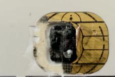 Smart Card Kontaktfläche entfernt
