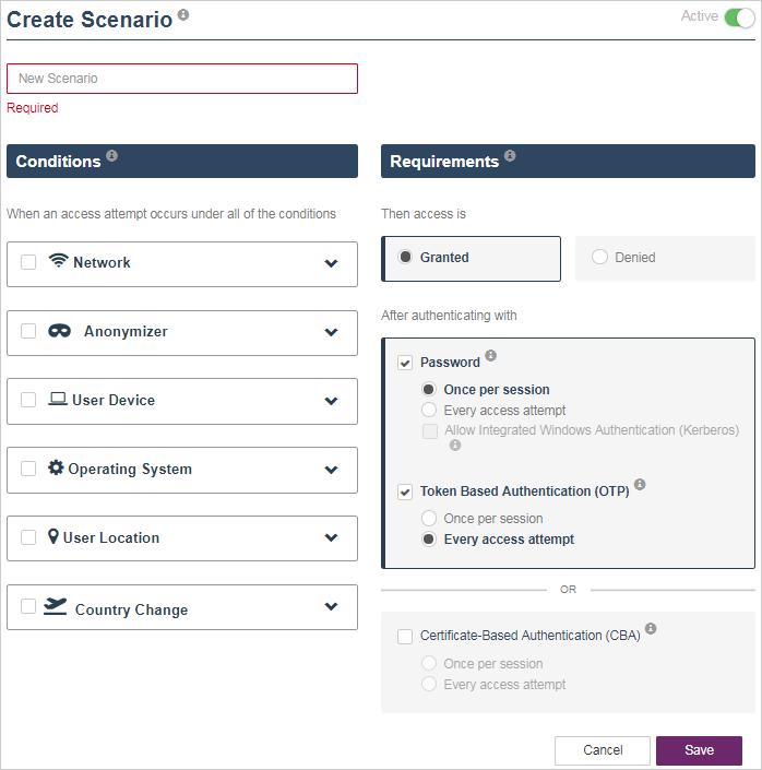 Thales SafeNet Trusted Access - Access Scenarios